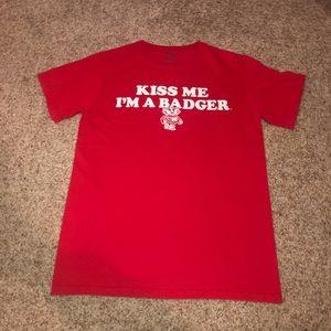 """""""Kiss me I'm a badger"""" t-shirt"""